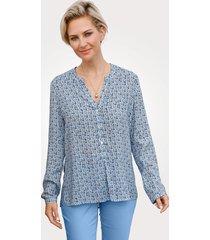 blouse barbara lebek blauw