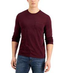 alfani men's alfatech long-sleeve pocket t-shirt, created for macy's
