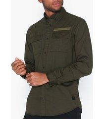 jack & jones jcoporter shirt ls worker skjortor mörk grön