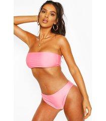 bandeau cheeky bum bikini, pink