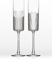 rolf glass wedding cheers series 1 (dress/tux) flute 5.75oz- gift box set of 2