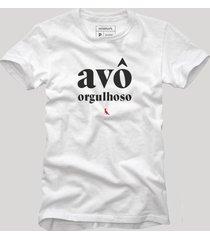 camiseta avã´ orgulhoso reserva branco - branco - masculino - dafiti