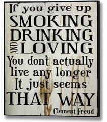 dekoracja ścienna smoking drinking loving