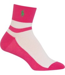 polo ralph lauren women's color block mesh ankle socks