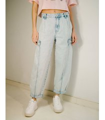 balloon fit jeans met acid wash