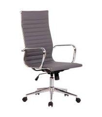 cadeira de escritório secretária sevilha i estofada cinza