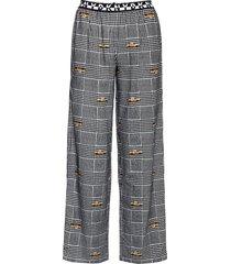 dkny 100% dkny pant pyjamabroek joggingbroek zwart dkny homewear