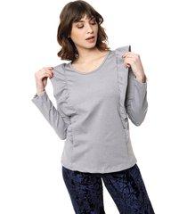 sweater gris felisa volados