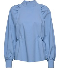 hekla blouse blouse lange mouwen blauw just female