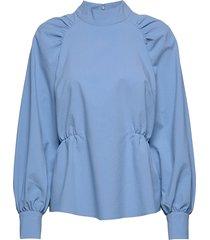 hekla blouse blouse lange mouwen blauw just female