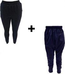 conjunto mezgo pantalón algodón  chupín frizado