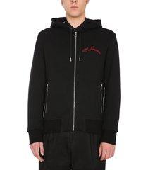 alexander mcqueen hooded sweatshirt with zip
