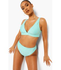 essentials high leg high waist bikini brief, bright green