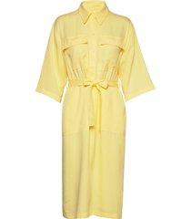 vendy jurk knielengte geel tiger of sweden