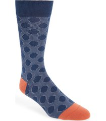 men's ted baker london spot socks, size one size - blue