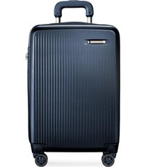 sympatico carry-on expandable spinner suitcase - matte navy