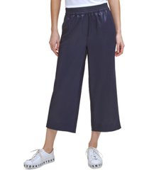 dkny wide-leg high-rise pants