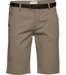 aop chino shorts w. belt shorts chinos shorts brun lindbergh