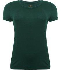 camiseta aleatory viscolycra verde feminina