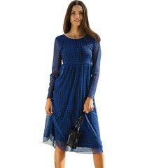 jurk amy vermont royal blue::zwart
