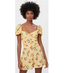jumpsuit met bloemenprint en riem