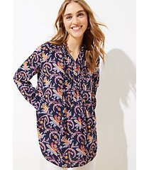 loft garden pintucked tunic blouse