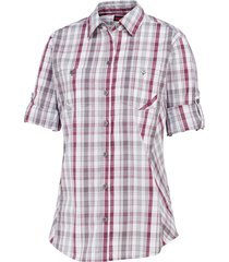 wolverine women's sidney roll-sleeve shirt orchid plaid, size s