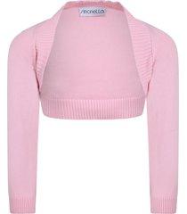 simonetta pink cardigan for babygirl
