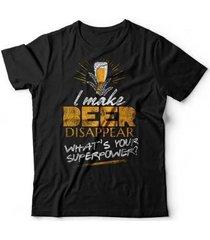camiseta beer disappear - unissex