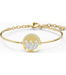 bracciale rigido shine wave, multicolore chiaro, placcato color oro