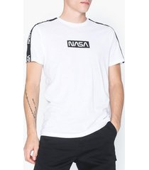 only & sons onsnasa license ss reg tee t-shirts & linnen vit