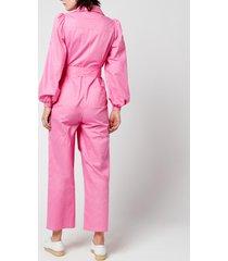 kitri women's remi jumpsuit - pink - l