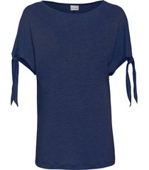 maglia boxy in lino (blu) - bodyflirt