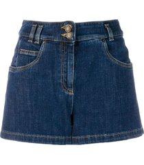 moschino teddy denim shorts - black