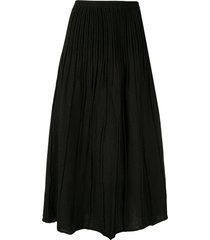 akira naka crinkle pleat skirt - black