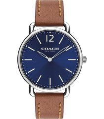 men's coach delancey leather strap watch, 40mm