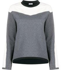 brunello cucinelli panelled crew-neck sweatshirt - grey
