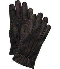 ugg men's leather fleece-lined gloves