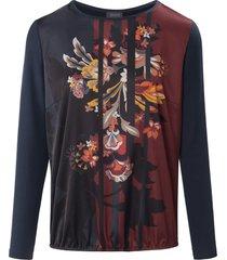 shirt met lange mouwen en bloemenprint van basler multicolour