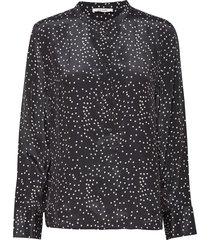 rita shirt blouse lange mouwen zwart nué notes