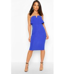 bandeau midi dress, blue