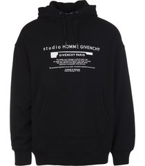 givenchy man black hoodie with contrast print