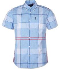 barbour croft short-sleeved shirt / barbour croft short-sleeved shirt, sky, xx large