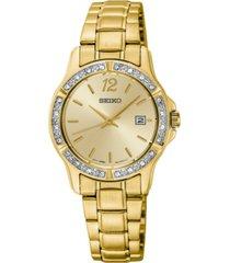seiko women's gold-tone stainless steel bracelet watch 28mm