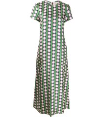 la doublej swing connect 4 print dress - green