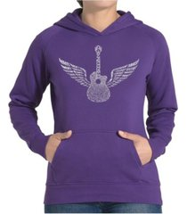 la pop art women's word art hooded sweatshirt - amazing grace