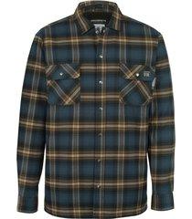 wolverine men's fr plaid jacket dark navy plaid, size l