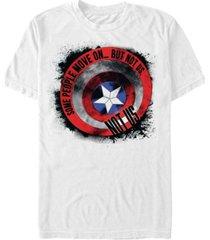 marvel men's avengers endgame captain america ink shield, short sleeve t-shirt