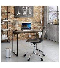 mesa de escritório studio marrom escuro 90 cm