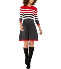 jessica howard petite striped sweater dress